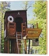 Tree House Boat 2 Wood Print