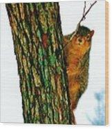 Tree Hugger Wood Print