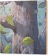 Tree Hugger Wood Print by Paula Marsh