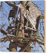 Tree Hut Wood Print