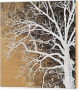 Tree In Abstract Wood Print