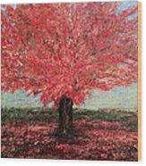Tree In Fall Wood Print