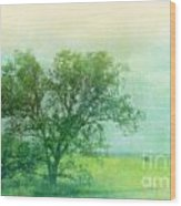 Tree In The Flint Hills Wood Print