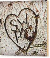 Tree Initials Wood Print