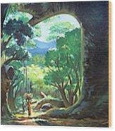 Tree Landscape Wood Print