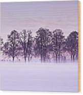 Tree Line Wood Print