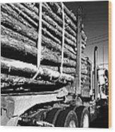 Tree Logger Wood Print