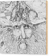 Tree Man Wood Print