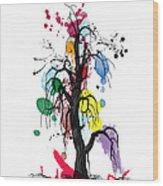Tree Wood Print by Mark Ashkenazi