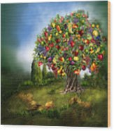 Tree Of Abundance Wood Print