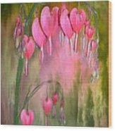 Tree Of Bleeding Hearts Wood Print