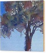 Tree Of Color Wood Print
