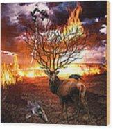 Tree Of Death Wood Print