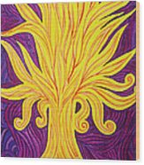 Tree Of Fire Wood Print