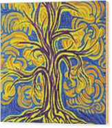 Tree Of Happiness Wood Print
