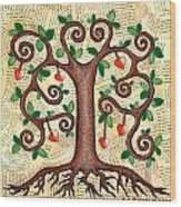 Tree Of Hearts Wood Print by Lisa Frances Judd