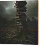 Tree Of Knowledge Wood Print by Fern Evans