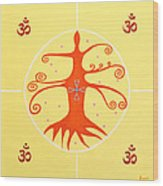 Tree Of Life - Joy Mandala Wood Print
