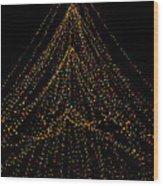 Tree Of Lights Wood Print by Christi Kraft