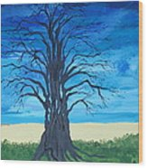 Tree Of Man Wood Print