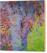 Tree Of Many Colors Wood Print