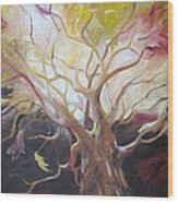 Tree Of Thought Wood Print