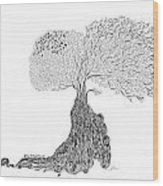 Tree Of Uncertainty Wood Print