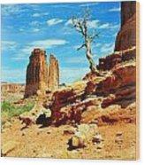 Tree On Park Avenue Wood Print