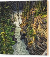 Tree On The Edge Of A Cliff Wood Print