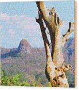 Tree Painting Wood Print