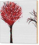 Tree Paintings In Wax Wood Print