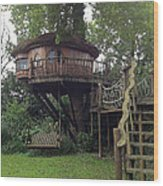 Tree Penthouse Wood Print