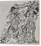 Tree People Wood Print by Glenn Calloway