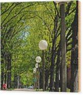Tree Ride Wood Print