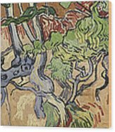 Tree Roots Wood Print by Vincent Van Gogh