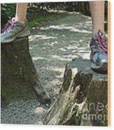 Tree Stump Stilts Wood Print