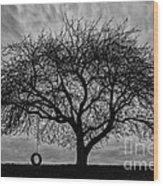 Tree Swing Wood Print