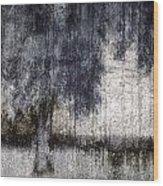 Tree Through Sheer Curtains Wood Print