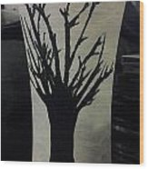 Tree Vase Wood Print by Lee Farley
