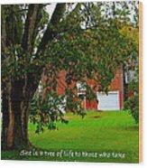 Tree With Scripture Wood Print
