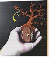 Treeclock Wood Print by Racquel Delos Santos
