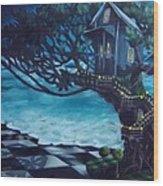 Treehouse Wood Print by Lori Keilwitz