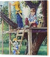 Treehouse Magic Wood Print