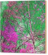 Trees Alive In Pink Wood Print