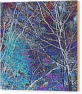 Trees Alive With Color Wood Print