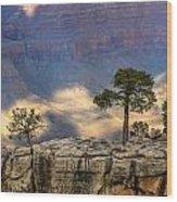 Trees At The Grand Canyon Wood Print