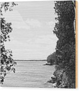 Trees At The Lakeside, Cave Point Wood Print