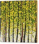 Trees At Twilight Xviii Wood Print
