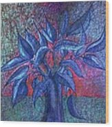 Trees Flower  Wood Print