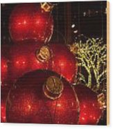 Trees Lights And Ornaments Wood Print
